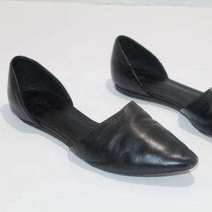 Vince Pointed Toe D'Orsay Ballet Flats Leather 6